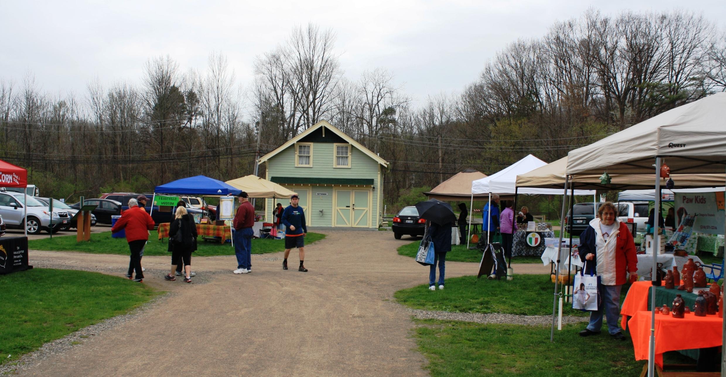 Different vendor tents