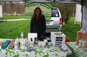 Shannon Bonness displays her all natural products.
