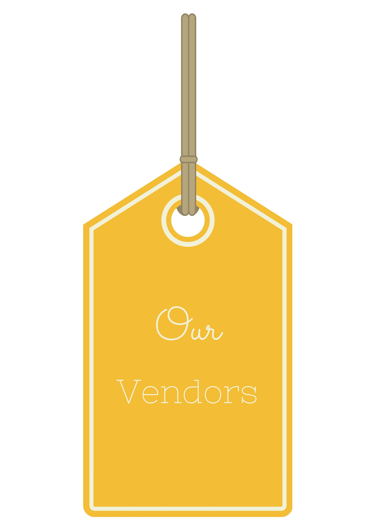 """Our Vendors"" tag"
