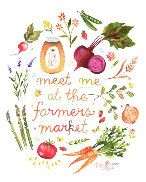 """""""meet me at the farmers market"""" sign"""